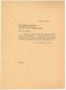 Thumbnail of Letter from W. E. B. Du Bois to Maud Cuney Hare