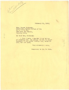 Thumbnail of Letter from unidentified correspondent to Jessie Hathcock