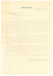 Thumbnail of Letter from Edward Morrow to W. E. B. Du Bois