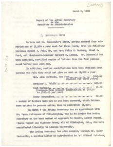 Thumbnail of Report of the Acting Secretary of the NAACP to the Committee on             Administration
