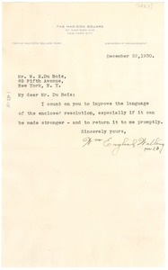 Thumbnail of Letter from William English Walling to W. E. B. Du Bois