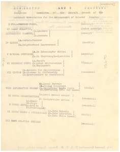 Thumbnail of Suggested Program of the N.A.A.C.P. Detroit Branch Education Committee, 1930