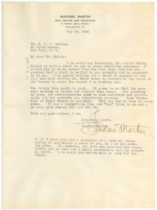 Thumbnail of Letter from the N.A.A.C.P. Philadelphia Branch to W. E. B. Du Bois