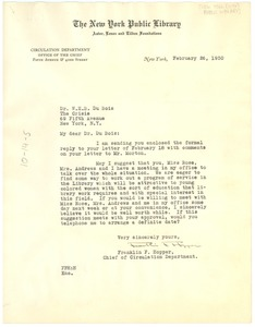 Thumbnail of Letter from the New York Public Library to W. E. B. Du Bois