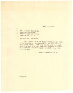 Thumbnail of Letter from W. E. B. Du Bois to Addison Scurlock