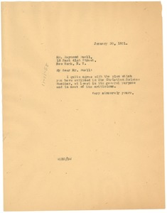 Thumbnail of Letter from W. E. B. Du Bois to Foreign Policy Association