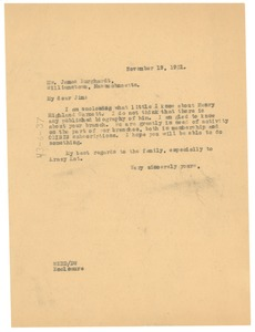 Thumbnail of Letter from W. E. B. Du Bois to James Burghardt