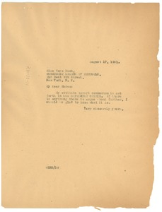 Thumbnail of Letter from W. E. B. Du Bois to the Communist League of Struggle