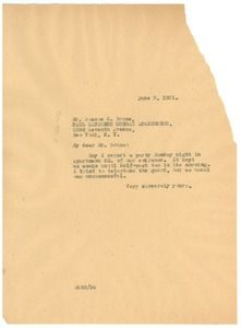 Thumbnail of Letter from W. E. B. Du Bois to The Paul Laurence Dunbar Apartments, inc.