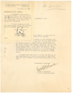 Thumbnail of Memorandum from The Paul Laurence Dunbar Apartments, Inc. to W. E. B. Du Bois