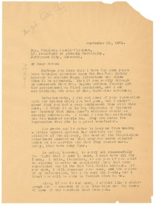 Thumbnail of Letter from W. E. B. Du Bois to Virginia Powell Florence