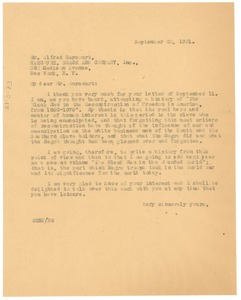Thumbnail of Letter from W. E. B. Du Bois to Harcourt, Brace and Company