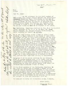 Thumbnail of Draft of circular letter from the Du Bois Literary Prize