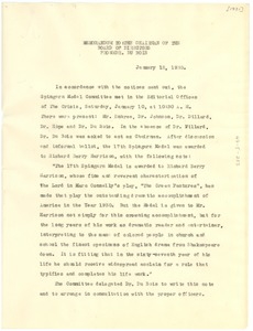 Thumbnail of Memorandum from W. E. B. Du Bois to The Chairman of the Board of Directors of             the NAACP
