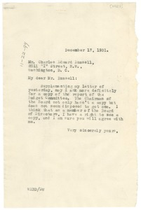 Thumbnail of Letter from W. E. B. Du Bois to Charles Edward Russell