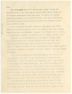 Thumbnail of Memorandum from W. E. B. Du Bois to New York Public Library