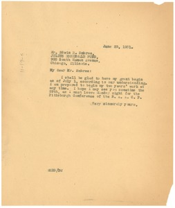 Thumbnail of Letter from W. E. B. Du Bois to Rosenwald Fund