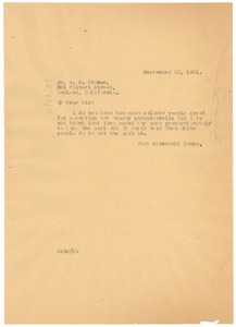 Thumbnail of Letter from W. E. B. Du Bois to R. H. Thomas