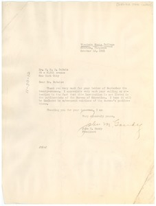 Thumbnail of Letter from Virginia State College to W. E. B. Du Bois