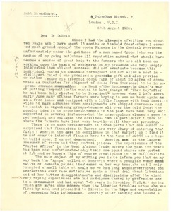 Thumbnail of Letter from Robert Broadhurst to W. E. B. Du Bois
