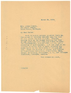 Thumbnail of Letter from W. E. B. Du Bois to Alice Foster