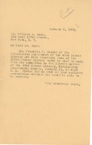 Thumbnail of Letter from W. E. B. Du Bois to William L. Imes