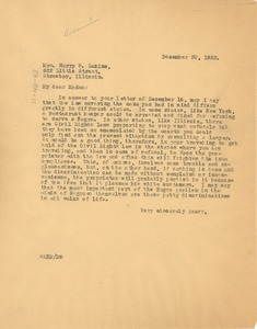 Thumbnail of Letter from W. E. B. Du Bois to Harry W. Lukins