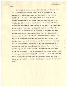 Thumbnail of Draft of letter from NAACP Board of Directors to Secretary of State