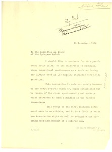 Thumbnail of Memorandum from Herbert J. Seligmann to N.A.A.C.P. Spingarn Medal Award Committee