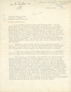Thumbnail of Letter from Phelps-Stokes Fund to Robert E. Park