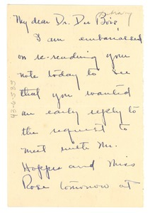Thumbnail of Letter from Ruth Logan Roberts to W. E. B. Du Bois