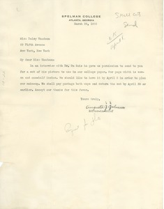 Thumbnail of Letter from Spelman College to Daisy Wilson