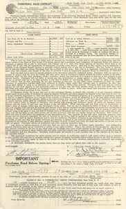 Thumbnail of Sales contract between W. E. B. Du Bois and Willys Cars Inc.