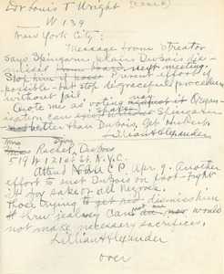 Thumbnail of Letter drafts by Lillian Alexander