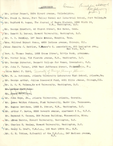 Addresses of individuals