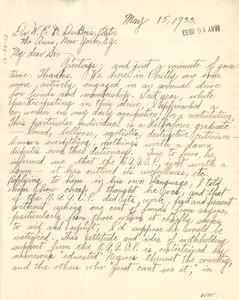 Thumbnail of Letter from R. F. America to W. E. B. Du Bois