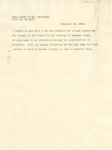 Thumbnail of Memorandum from W. E. B. Du Bois to John P. Whittaker