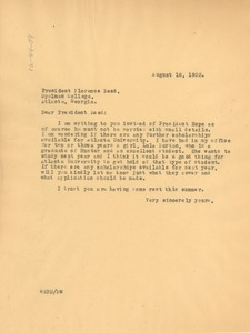 Thumbnail of Letter from W. E. B. Du Bois to Florence Read
