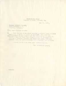 Thumbnail of Letter from W. E. B. Du Bois to Lillian Evanti
