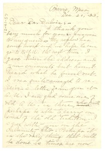 Thumbnail of Letter from Mabel D. Hancock to W. E. B. Du Bois