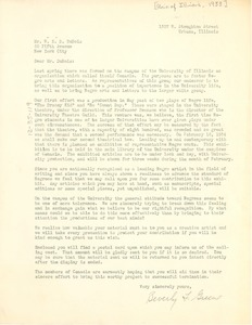 Thumbnail of Letter from Beverly F. Greene to W. E. B. Du Bois