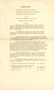 Thumbnail of Report of the Committee to the Council adopted on June 27th, 1933