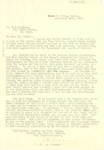 Thumbnail of Letter from Secretary of State, Liberia, to W. E. B. Du Bois