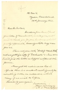 Thumbnail of Letter from A. S. Macintyre to W. E. B. Du Bois