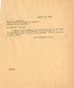 Thumbnail of Letter from W. E. B. Du Bois to North Carolina College for Negroes