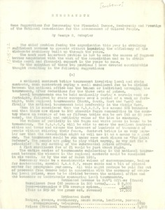 Thumbnail of Some suggestions for increasing the financial income, membership and prestige of         the National Association for the Advancement of Colored People