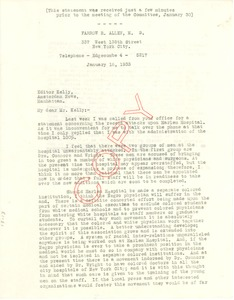 Thumbnail of Letter from Farrow A. Allen to New York Amsterdam News