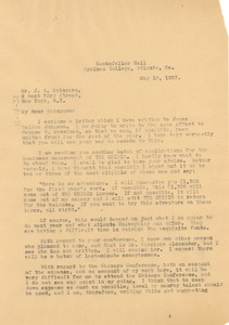Thumbnail of Letter from W. E. B. Du Bois to J. E. Spingarn