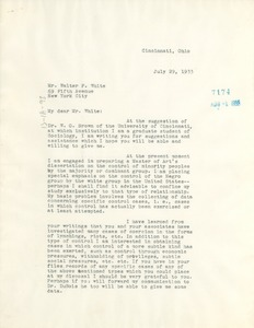 Thumbnail of Letter from Henry W. Abplanalp to Walter White