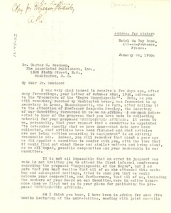 Thumbnail of Letter from Anson Phelps Stokes to C. G. Woodson